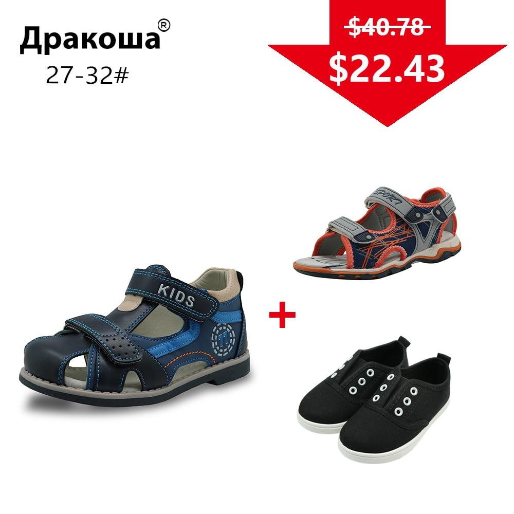 Apakowa 3 Pairs Jungen Sommer Sandalen Frühling Herbst Jungen Casual Schuhe Turnschuhe Farbe Nach Dem Zufall Gesendet Für Einem Paket Eu GrÖße 27-32