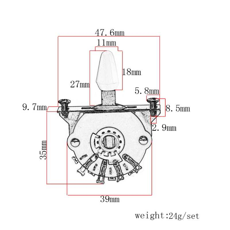 5-way Lever Switch Selector for ST FD Electric Guitar Replacement Parts SL#