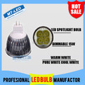 6PCS/lot Free shipping High power CREE Led Lamp Dimmable MR16 15W 12V Led spot Light Spotlight led bulb downlight lighting