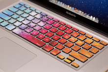 Free shipping Removable Diy colorful bright disign waterproof and dustproof keyboard stickers for computer notebook air