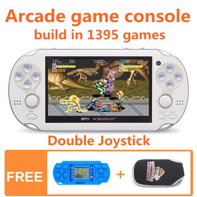 64bit 4,3 дюймов двойной джойстик 8 ГБ Ручной игровой консоли build в 1395 игр игровой консоли поддержку FC/ GB/GBC/GBA/SMC/SM