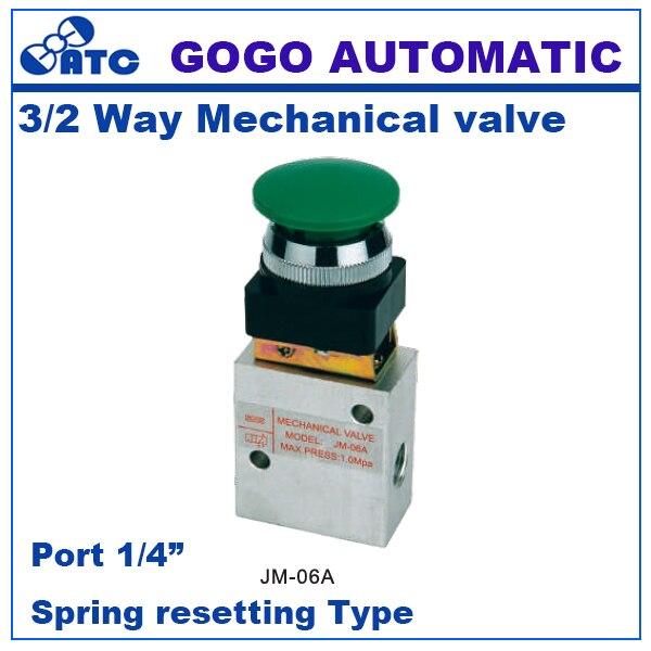 4 Pollici Valvola Meccanica Pneumatica a Rullo Valvola JM-07 a 2 Posizione 3 Vie Filettato G1