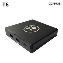 T6 Android 6.0 Amlogic S905X TV Box Quad Core 64Bit 2GB 16GB H.265 UHD 4K VP9 3D Mini PC WiFi AirPlay Miracast DLNA SZ