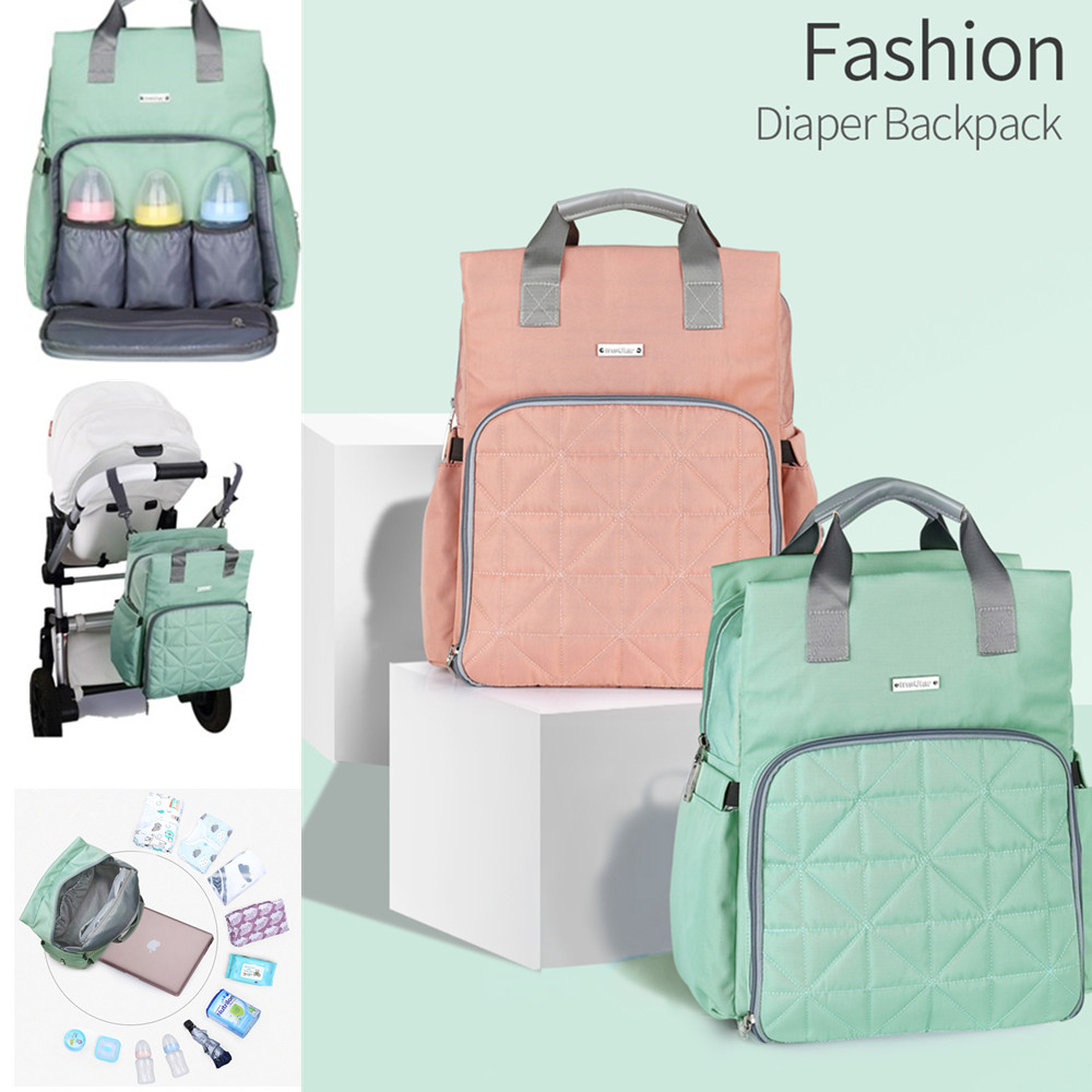 цена 2018 New Baby Diaper Bag Large Capacity Multi-functional Mommy Maternity Bag Nursing Bag for Baby Care Maternity Nappy BackBag