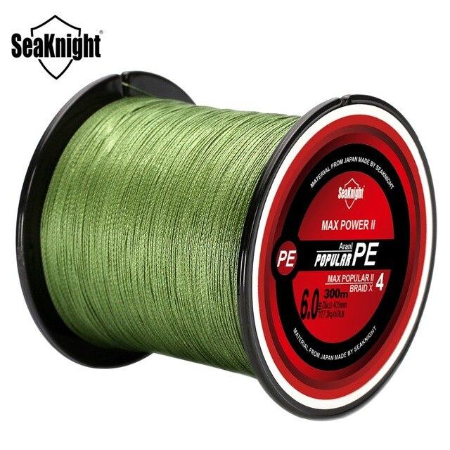 SeaKnight Brand TriPoseidon Series 300M 330Yards PE Braided Fishing Line 4 Strands 8 10 20 30 40 60LB Multifilament Fishing Line