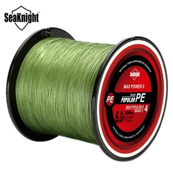 SeaKnight TriPoseidon 300M 500M PE Fishing Line 4 Strands Braided Fishing Line 8 10 20 30 40 60 80LB Multifilament Fishing Line