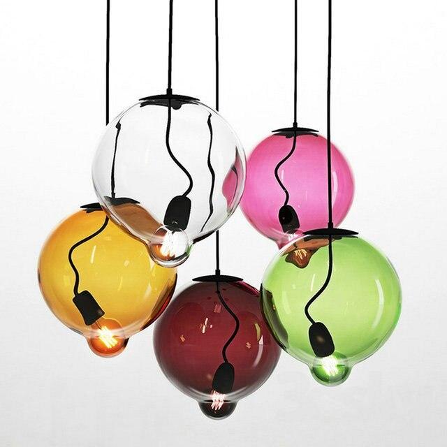 110v,220v Loft Vintage hanglamp fixtures E27 bulbs Glass Pendant Lights, hanging lamp Edison vintage industrial dining room
