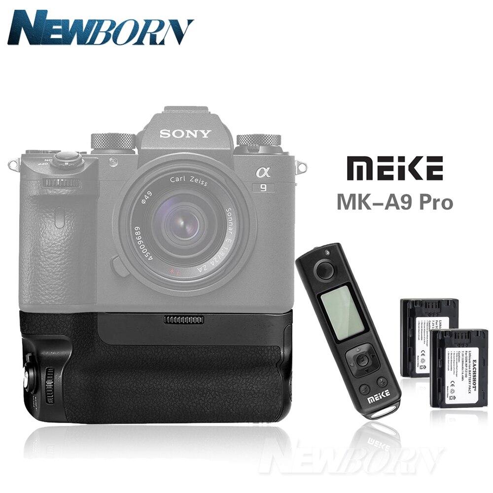 Meike MK-A9 Pro Batterie Poignée Main Grip Vertical comme VGC3EM Pour Sony Alpha A9 A7R III A7RIII + 2.4 GHz Télécommande + 2x NP-FZ100