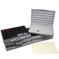 6 SMT SMD Resistor Capacitor Storage Box Organizer 1206 0603 0805 0402 0201 Tiny