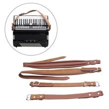 Регулируемая одна пара Мягкая Синтетическая кожа аккордеон плечевой ремень для 16-120 бас Аккордеоны 83 см-110 см регулируемая длина