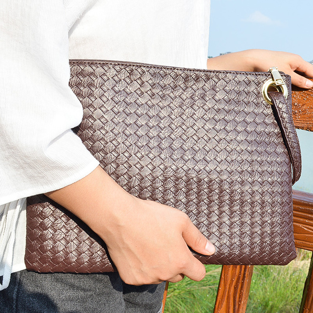 Pu Leather Knitting Women Bag