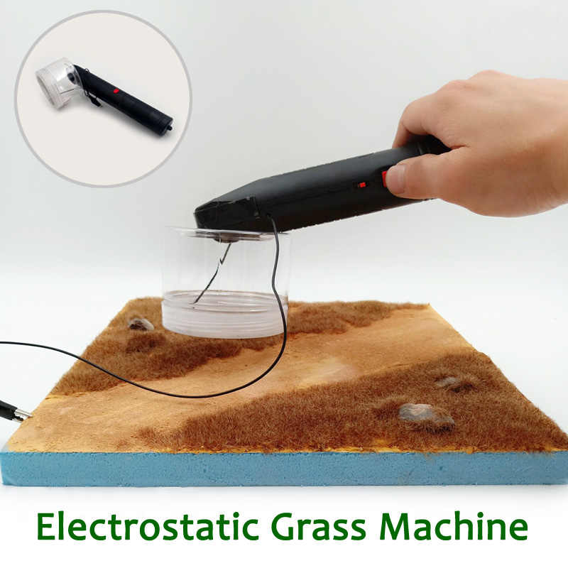 Terrain scene production Electrostatic grass machine Sand table building model lawn making tool