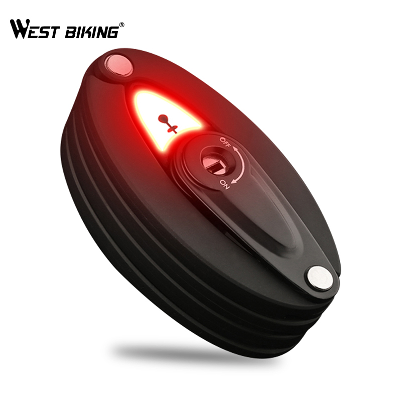 Foldable Bike Steel Lock with Taillight Flash Light – Strong Security