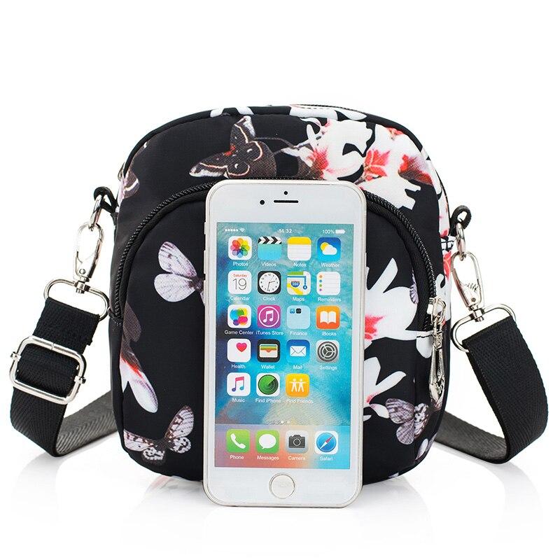 Новые летние женские сумки на плечо нейлон с цветочным принтом женские сумки для девочек сумки через плечо маленькая сумка через плечо мини...