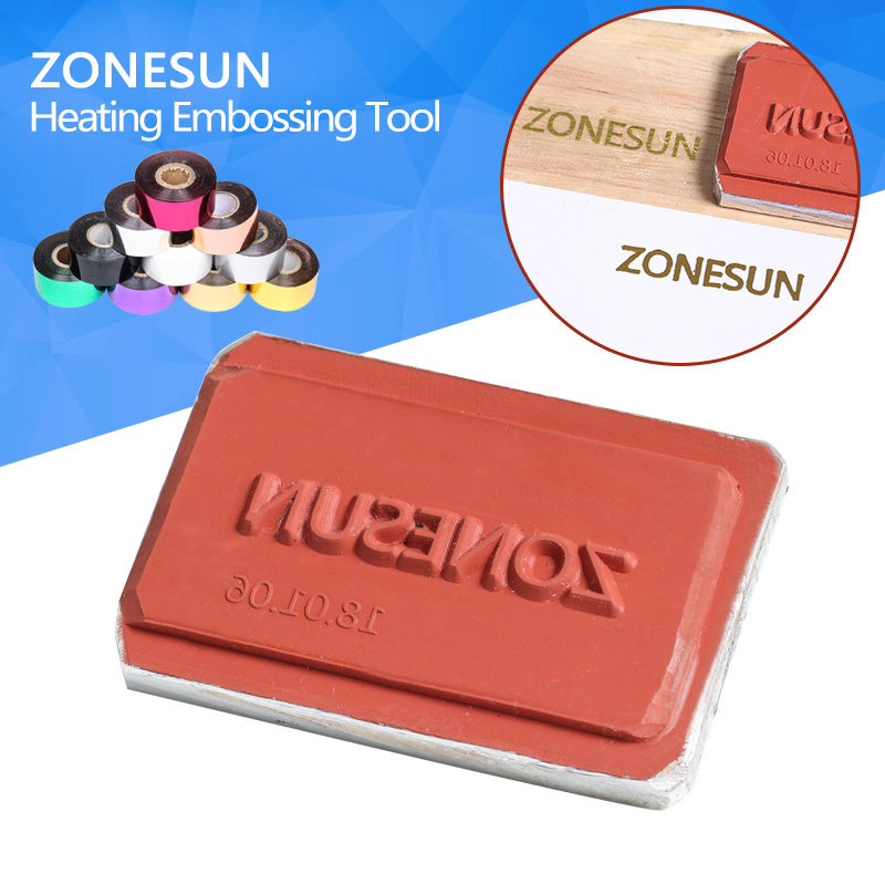 ZONESUN DIY Hot Foil Silicone Mould Embossing Plate Custom Brand Logo For Plastic Wood Sunglasses Heat Stamping mould logo custom services 12 cavities english character simple pattern brand identity