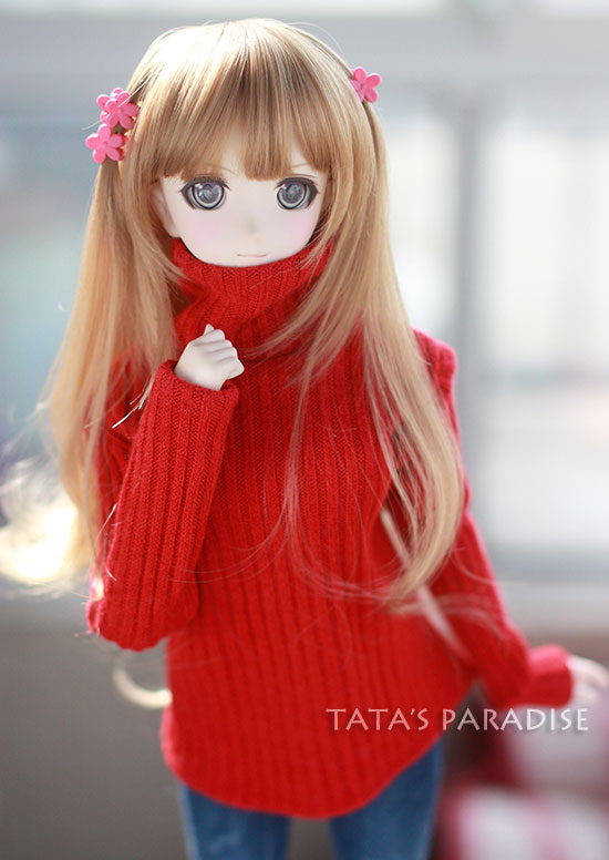 Fashion red / white  turtleneck  sweater  For BJD 1/3  ,SD17 ,UNCLE Doll Clothes Accessories uncle 1 3 1 4 1 6 doll accessories for bjd sd bjd eyelashes for doll 1 pair tx 03