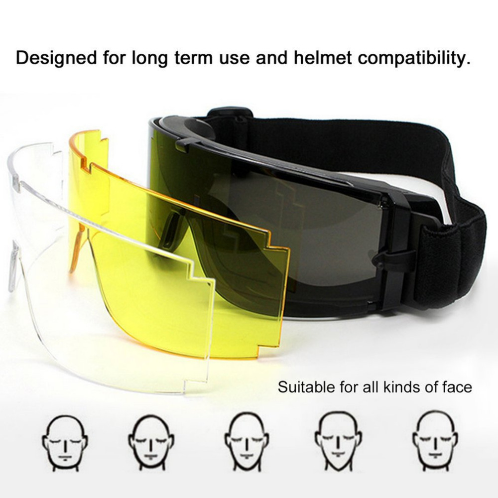 Safety Military Goggles Tactical Glasses Airsoft X800 Sunglasses Eye Glasses Goggles Motor Eyewear Cycling Riding Eye Protection ck tech brand sports bicycle bike riding cycling eyewear sunglasses men glasses oculos safety goggles uv protection 045