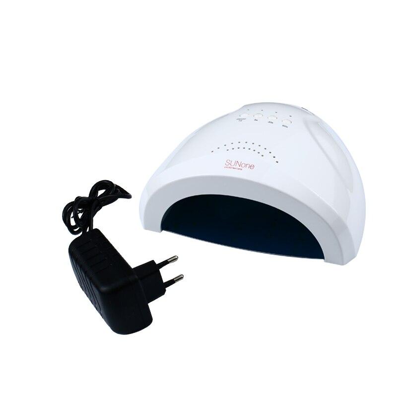 SUNONE 48W/24W Set Timer 365+405nm LED + UV White Light For Nail Polish Nail Gel Nail Art Tools With Sensor
