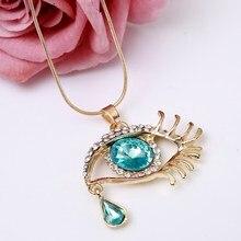 ZOSHI Fashion Choker pendants Necklace For Women Gems Blue Eyes Eyelash Tear Women Statement Necklace Wholesale Fashion Jewelry