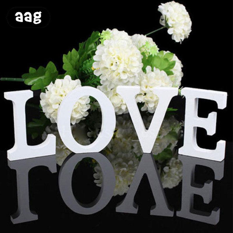 Sensible 1pcs 3d Wooden Letters Decor Diy Freestanding Alphabet Personalised Name Design Craft Party Wedding Birthday Home Decorations Preventing Hairs From Graying And Helpful To Retain Complexion