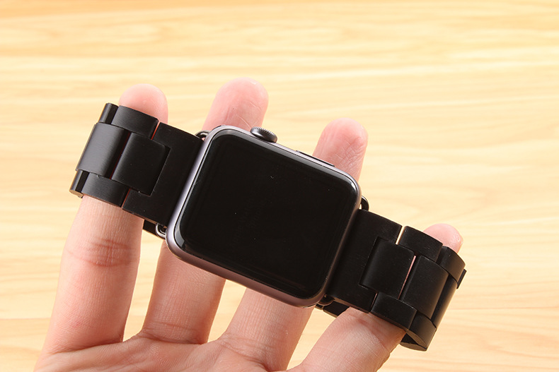 New arrival For Apple watch band High Quality Wooden Watchband Black Brown Strap for Apple Watch Band Series 3/2/1 42mm 38mm high quality black color leather 38 42mm width apple watch strap band for apple watches
