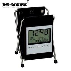 Funda plegable sostenedor de la pluma electrónica reloj de alarma recibir una pluma contenedor calendario reloj electrónico regalos