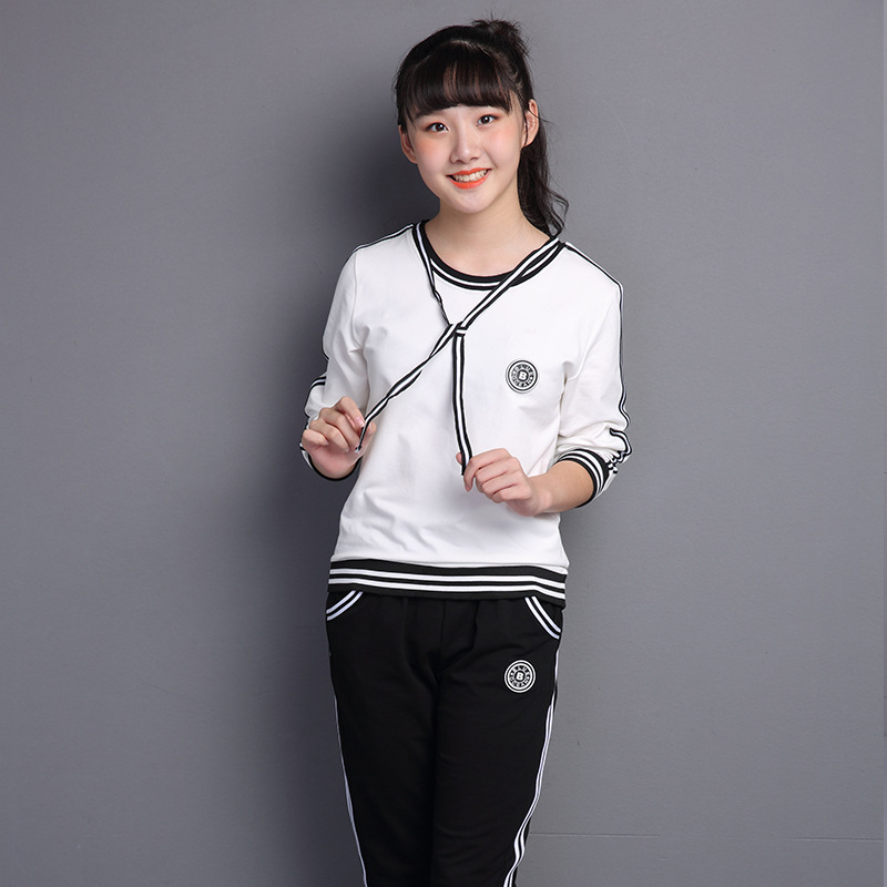 Children Girls clothing sets teenage girls sport suit school kids tracksuit for girls clothes two pieces 140 150 160 170 boys suit kids tracksuit clothing sets sport suit 100