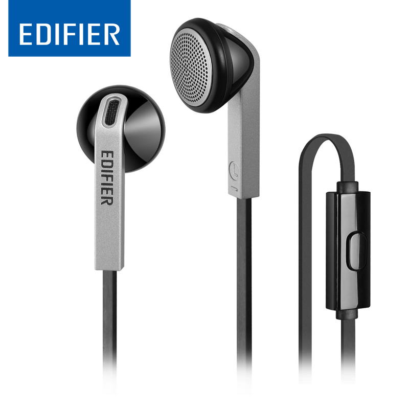 EDIFIER P190 In ear Earphone With MIC Bass Stereo Headset Hands-Free Wired Control Earpiece HiFi Earbuds For Smartphones