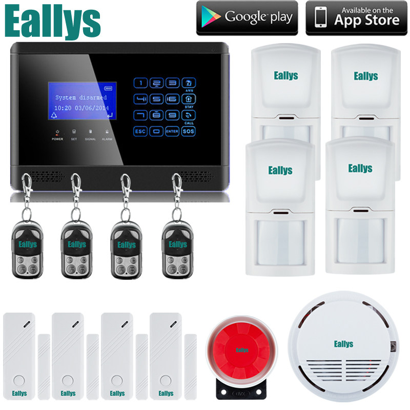 Wireless GSM SMS TEXT Touch Keypad Home House Alarm System LCD Screen +Wireless Smoke Fire Sensor Free Shipping handheld game 3 inch touch screen lcd displays 4 way cross keypad polar system