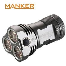 Manker MK34 Powerful Searchlight 8000LM 12x CREE XP-G3 LED / 6500LM Nichia 219B 219C Flashlight Use 3x 18650 Battery