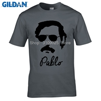 GILDAN Customised T Shirts New Men T Shirts Pablo Escobar Digital Printing 100 180gsm Combed Cotton
