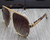 DOTE ME Projeto o Mais Novo Homens de Negócios Liga Aro Completo Retro Motorista Polarizada Óculos De Sol UV400 Goggle óculos Moldura de Prata de Ouro