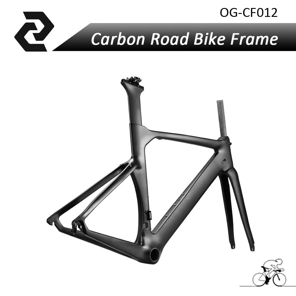 2017 OG-EVKIN Carbon Bicycle Frameset Road Aero Track Bike Frame China BICICLETA China UD Matt/Glossy BB386 45/48/50/52/54/56cm top selling og evkin 3k weave bb386 carbon road bike frame aero carbon bicycle frameset 49 52 4 56cm