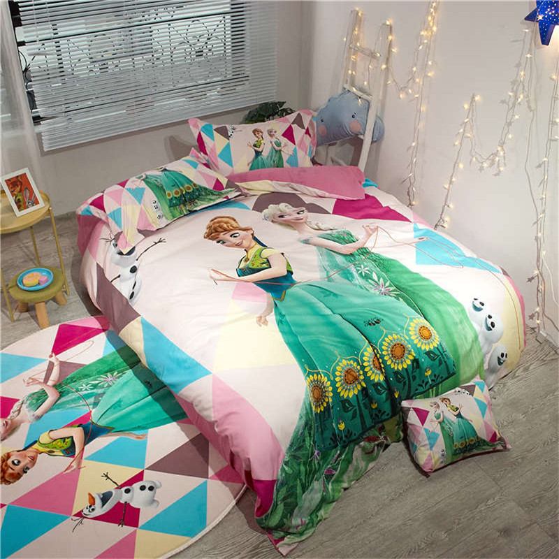Disney Cartoon Frozen Bedding Set Single Twin Full Queen