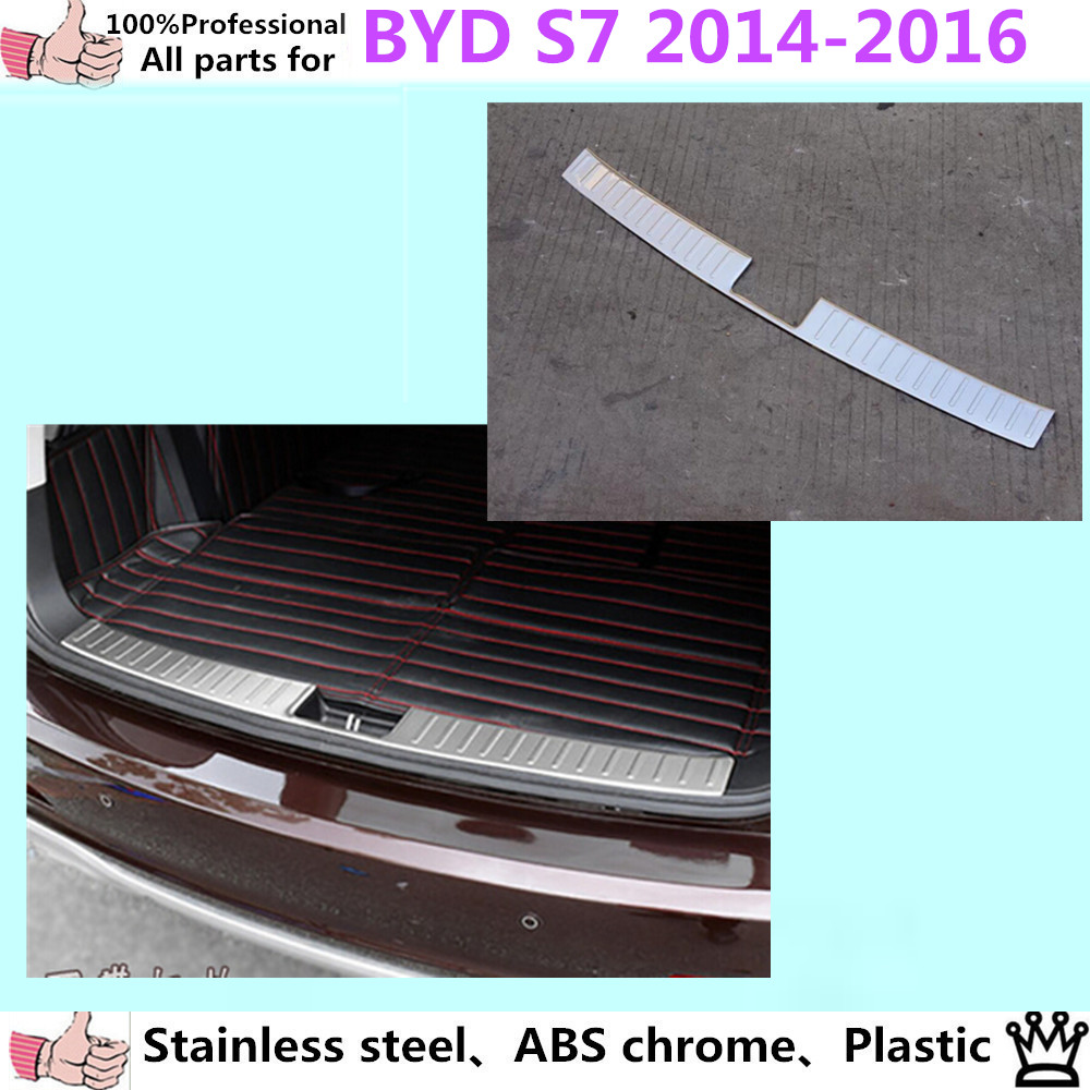 Car styling cover stainless steel Side Door Body trim stick Strip Molding Stream lamp panel plate 4pcs for BYD S7 2014 2015 2016 for toyota corolla levin 2014 2015 car styling center control gear panel gears side decoration trim stainless steel