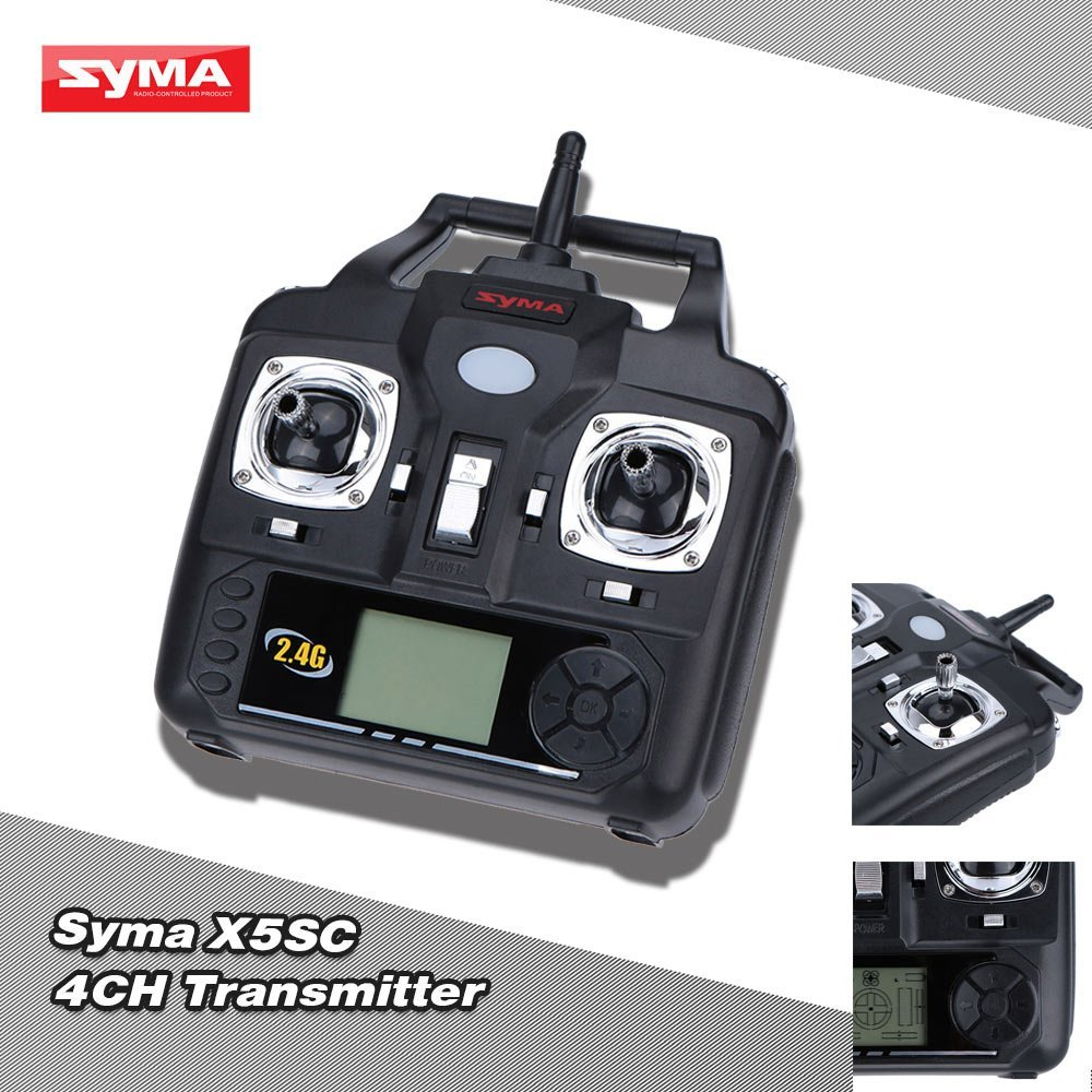 Original Syma X5C X5C 1 Transmitter Syma 2 4G 4CH Transmitter for Syma X5C X5C 1 X5SC RC Quadcopter Drone in Parts Accessories from Toys Hobbies