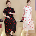 Dress Maternity Plus Size Print O-neck Short-sleeve Vestido Para Gravida 2016 New  Clothing For Pregnant Women Pregnancy Clothes