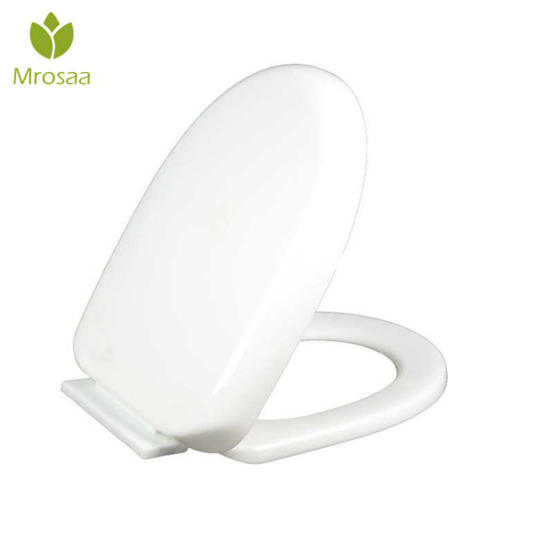 Mrosaa Universal Thicken Slow-Close Toilet Seat Lid Cover Set PP Board White Antibacterial U Type Replacement Toilet Seats Cover fslh 2pcs 2 2 universal replacement cookware pot glass lid cover knob