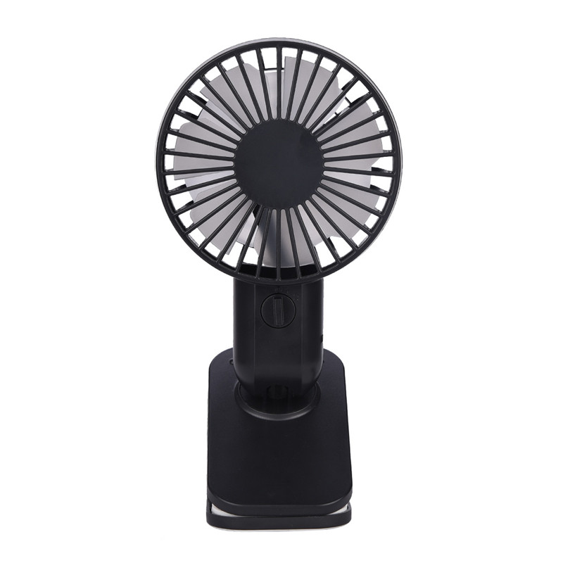 Mini Mute Clip Fan Double Vane 12 Blades Baby Stroller Fans Portable Air Cooling 2 Speeds Angle Adjusted Outdoor Desk USB Fan50