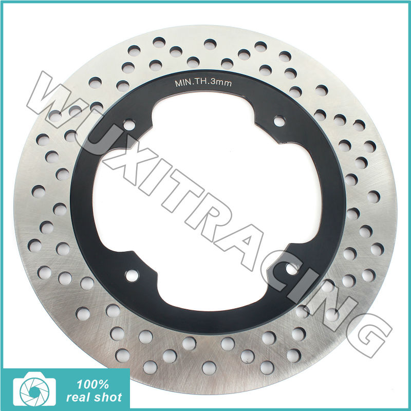 Black New Round Rear Brake Disc Rotor for Honda NX 500 650 Dominator 92 93 94 95 96 97 98 99 00 01 02 FX 650 Vigor 03 SLR 650 V rear brake disc rotor for suzuki dr 650 se 96 12 k1 k2 k3 k4 k5 k6 k7 k8 k9 xf 650 freewind 97 98 99 00 01 02 03