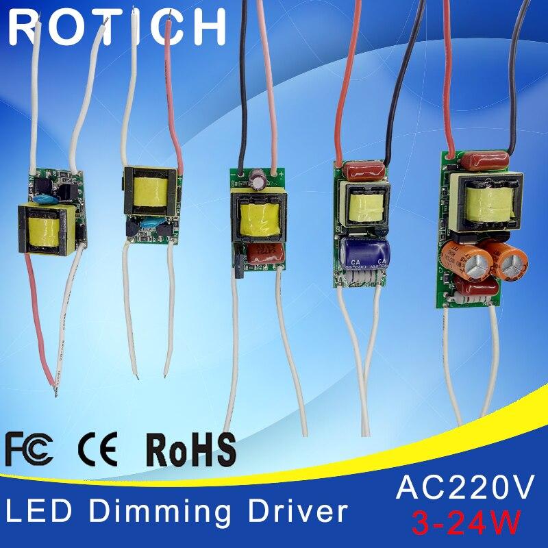 3 W, 5 W, 7 W, 8-15 W, 18-24 W, LED alimentation du conducteur éclairage à courant constant intégré 110-265V sortie 300mA Transforme