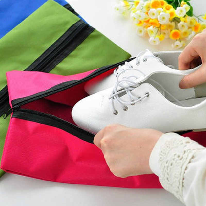 Travel Storage Bag Nylon 4 Colors Portable Storage Shoe Bag Multifunctional Travel Bag Storage Case Organizer Home Storage