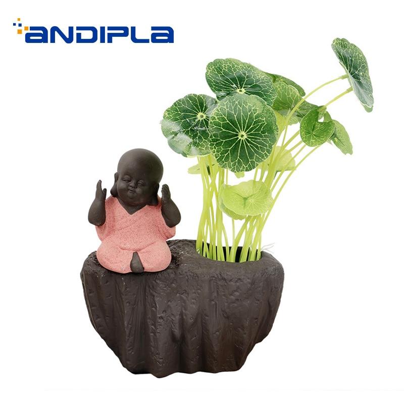 Vintage hydroponique bonsaï céramique poterie Pot de fleur porte-plante maison décoration ornement artisanat Table Vases cadeaux créatifs