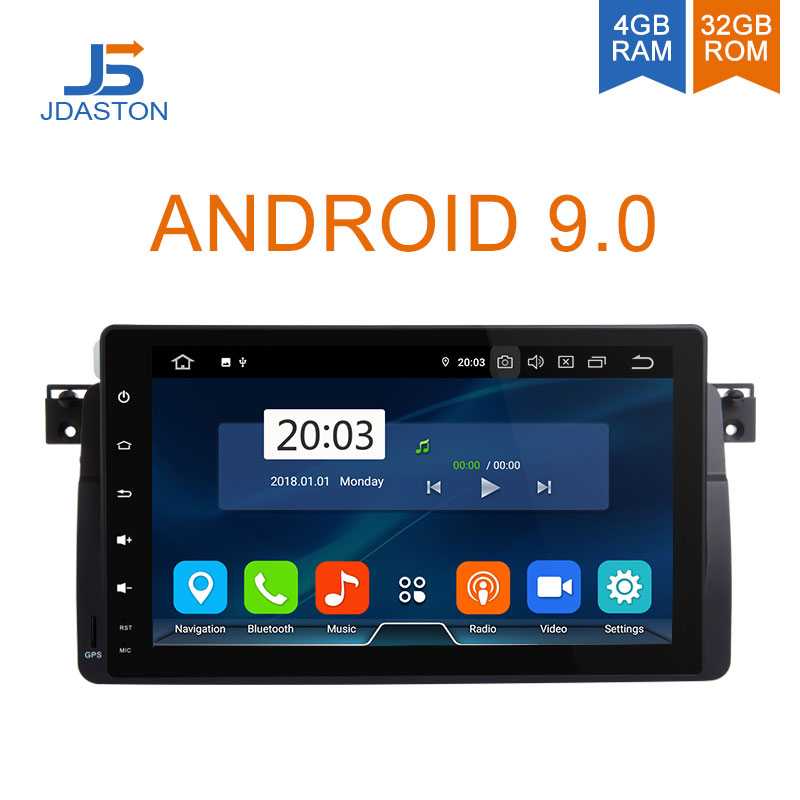 JDASTON 2 DIN Android 9 0 Car Multimedia Player For BMW E46 M3 MG ZT Rover