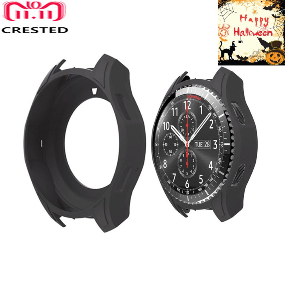 CRESTED Silicone Watch Case for Samsung Gear S3 Frontier S 3 Protect Cover replacement Band frame Colorful Protective shell цена