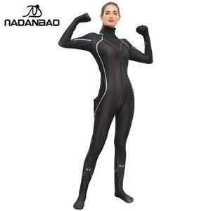 Image 2 - NADANBAO Black Widow เครื่องแต่งกายคอสเพลย์ซูเปอร์ฮีโร่ Purim Carnival เครื่องแต่งกายผู้หญิง Natalia Alianovna Romanova ผู้ใหญ่พลัสขนาด Bodysuit