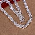 N061 al por mayor de calidad Superior 925 collar de cadena de plata 7 MM X 20 pulgadas Joyería de Moda Hombre