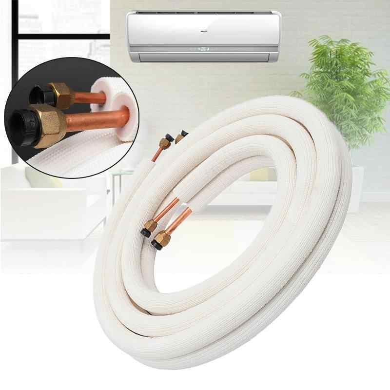 3 Meter Air Conditioner Pair Coil Tube 1/4'' 3/8'' Insulate Copper Aluminum Pipe Split Line Wire Home Air Conditioner Parts