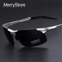 2014 New Men Brand Aluminum Alloy Polarized Sunglasses Alloy Ultralight Frame Man Polarization Glasses Cycling Sports