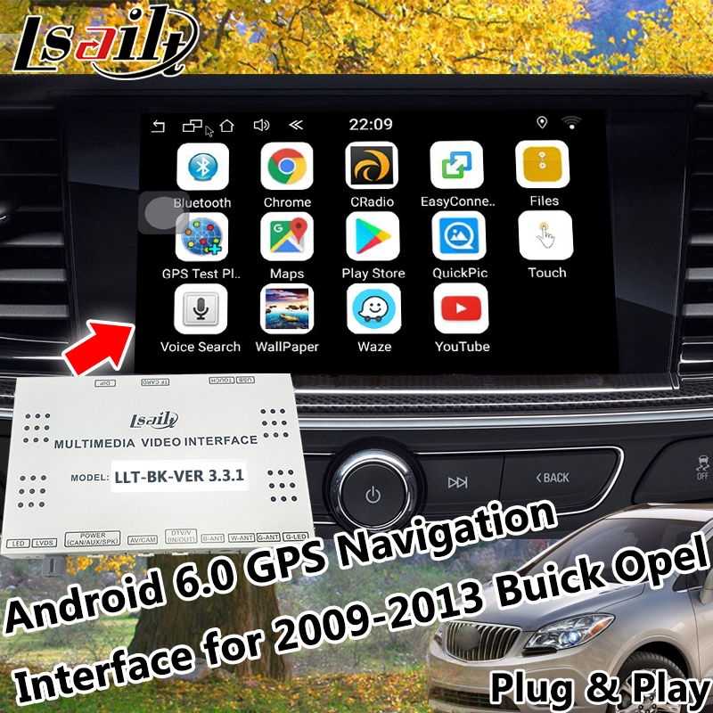 Android 6.0 Navigatore GPS Sistema di Navigazione GPS per 2009-2013 Buick Opel con Mirrorlink On-Line Mappa App Live di Navigazione